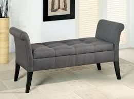 Bedroom Bench With Back Dining Room Enchanting Tufted For Home Furniture Photo With
