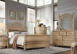 Shop For A Laurel View King Natural Pc Sleigh Bedroom At Rooms To - Grande sleigh 5 piece cal king bedroom set