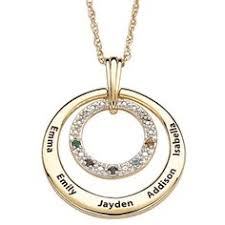 birthstone necklace for grandmother birthstone and diamond necklace with names silver or gold