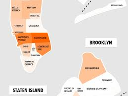 New York Map Districts by Map The Best Bars In New York City Are In These Neighborhoods
