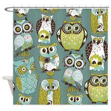 Owl Shower Curtains Cute Owls Shower Curtain By Bestshowercurtains