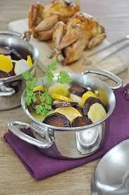 cuisiner les l馮umes anciens cocotte de légumes anciens glacés au miel et cailles rôties
