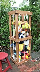 ana white diy stuffed animal zoo tower diy projects
