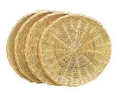 paper plates rattan rattan wicker paper plate holders set 4