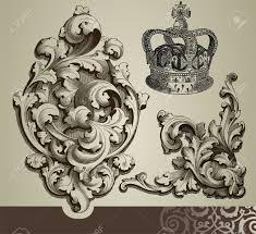 baroque ornaments royalty free cliparts vectors and stock