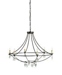 currey and company 9921 novella 6 light chandelier capitol