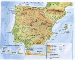 Map Of Morocco And Spain by Spain Physical Map Imsa Kolese