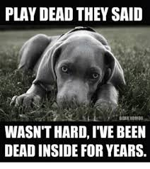 Humor Memes - play dead they said dark humor wasnthard ive been dead inside for