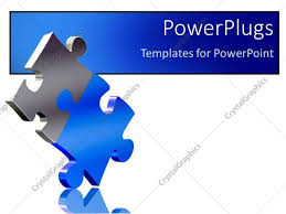 powerpoint template two pieces of puzzle come together as a