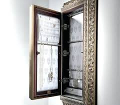 Black Storage Armoire Wall Mounted Jewelry Armoire With Mirror By Mirrotek Tag Wall