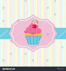 Cherry Cupcake Invitation Card Royalty Vector Card Cake Shop Topic Cake Stock Vector 493863871 Shutterstock