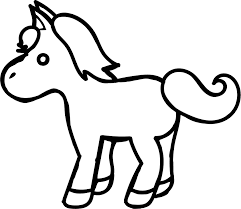 small cartoon horse coloring page wecoloringpage