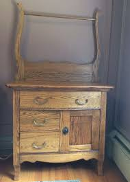 Oak Crest Manufacturing Roll Top Desk by Antique Oak Washstand Love It Have One Like This
