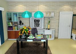 Modern Dining Room Pendant Lighting Dining Room Table Lighting 3d Rendering Of Dining Room