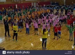 bureau r up camp hansen okinawa children warm up during a u s
