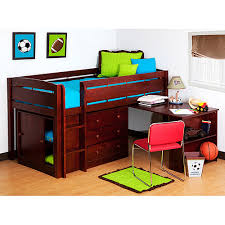 loft bed with desk wooden loft bed with built in desk ladder and