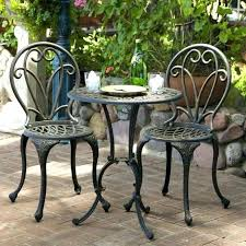 outdoor iron table and chairs bistro chairs and tables easy pieces outdoor bistro tables for two