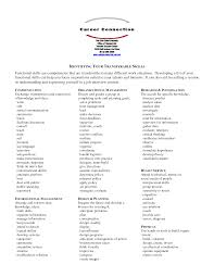 Interpersonal Skills List Resume Resume Functional Skills Resume For Your Job Application