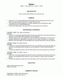 Career Summary Resume Example Resume Examples 10 Pictures Of Good Recommend Detailed