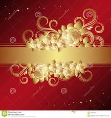 Golden Roses Red Background With Golden Roses Royalty Free Stock Photos Image