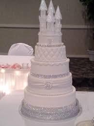 Cinderella Castle Wedding Cake Topper With Swarovski Crystals