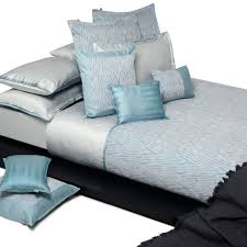 bed linen home concept blue mood home concept