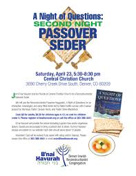 christian seder haggadah a of questions second passover seder event b nai