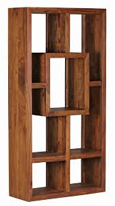 Wohnzimmer Regale Design Wohnling Bücherregal Mumbai Massiv Holz Sheesham 90 X 180 Cm