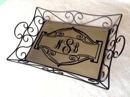 monogrammed serving tray mirrored monogram tray project page