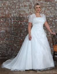 plus size wedding dresses with sleeves or jackets discount 2017 popular plus size wedding dress with jacket