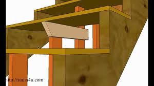 how to strengthen weak basement steps u2013 stair repairs youtube