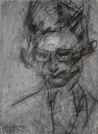 frank auerbach portret met houtskool auerbach pinterest