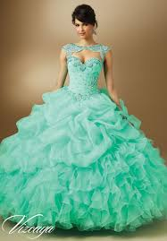 quinceanera dress 89048 jeweled beading on organza quince ideas
