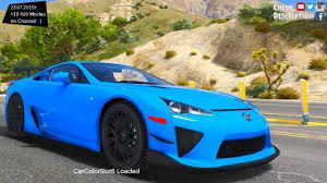 lexus lfa blue 2012 lexus lfa nurburgring package gta v mod 2 7k 1440p
