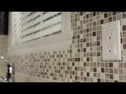 How To Install A Kitchen Backsplash Video - how to cut mosaic tile sheets around outlets bing videos home