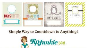 countdown calendar template free printable birthday event