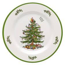 amazon com spode christmas tree melamine dinner plate set of 4