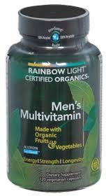 rainbow light vitamins mens rainbow light nutritional systems men s multivitamin organic
