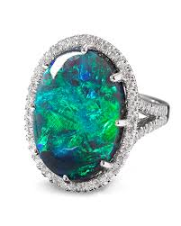 black opal estate jewelry colored gemstones lightning ridge black opal ring