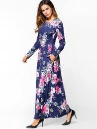 sleeve maxi dress floral print sleeve maxi dress blue maxi dresses l zaful