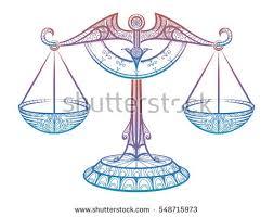 colorful justice scales zodiac sign libra stock vector 548715973