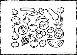 and vegetables coloring pages