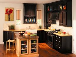 kitchen cabinets design layout yellow backsplash wooden cabinets