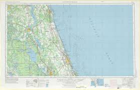 Florida Beach Map by Daytona Beach Topographic Maps Fl Usgs Topo Quad 29080a1 At 1