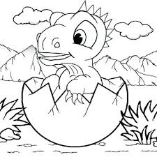 coloring pages baby dinosaur coloring pages children free