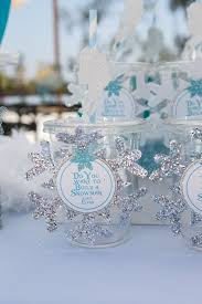 silver party favors kara s party ideas frozen winter themed birthday party