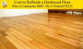 cost to refinish a hardwood floor in how much does it