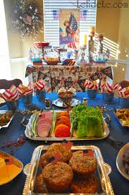 Gluten Free Buffet by Star Spangled Independence Day Patriotic Party Décor Ideas U0026 All