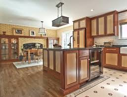 Zinc Kitchen Island - full overlay doors kitchen traditional with crown molding