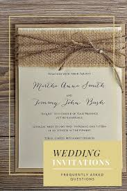 wedding invitations questions wedding invitation tips faq s exles